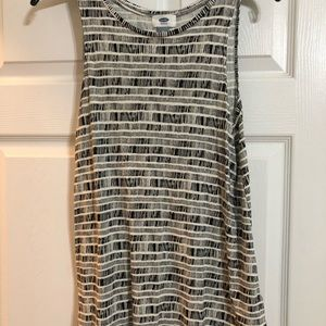 Black and White Old Navy Patterned Tank Top